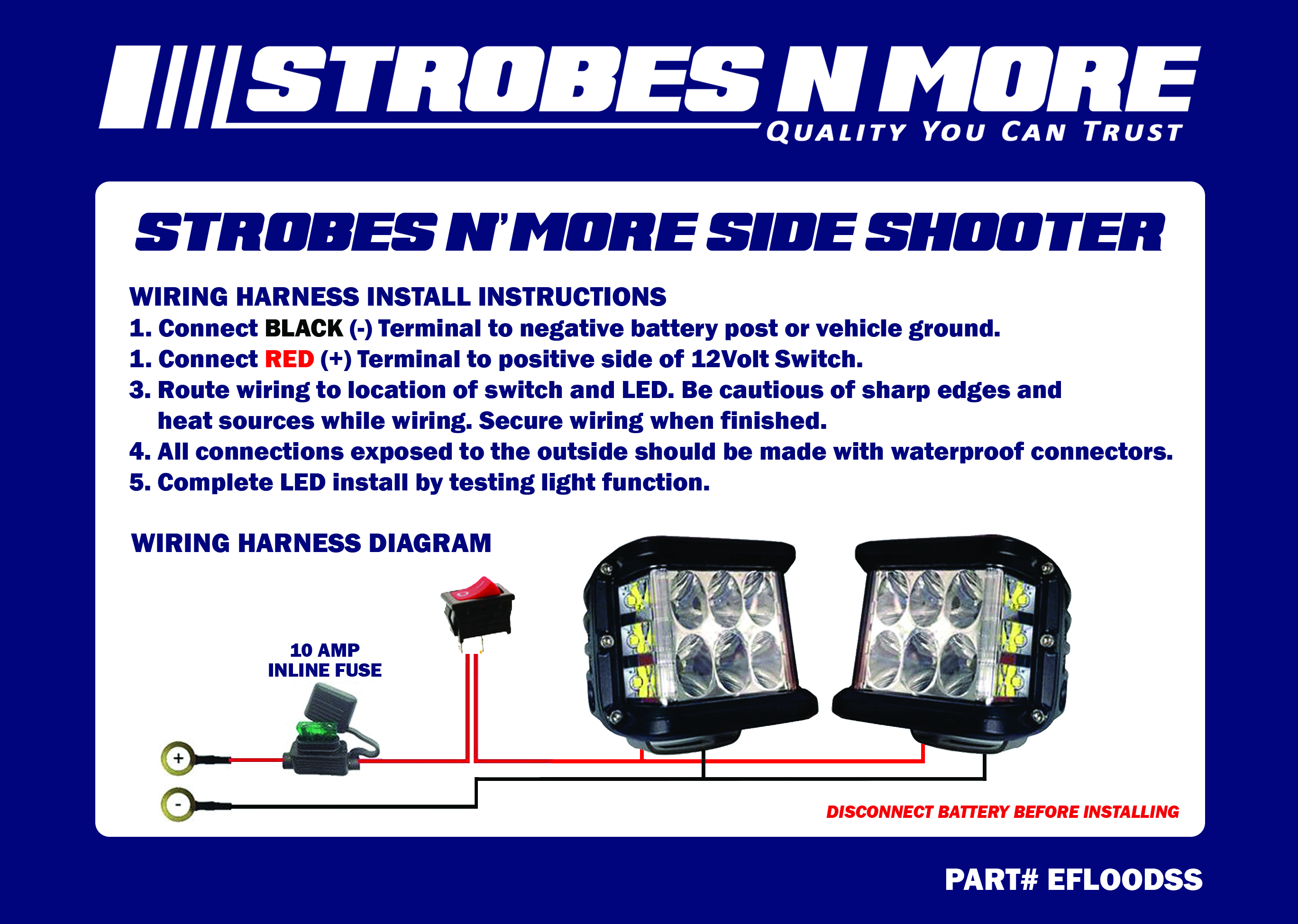 Admirable Strobes N More Side Shooter Floodlights Strobesnmore Com Wiring Digital Resources Remcakbiperorg