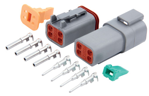 cables and accessories strobesnmore com deutsch connector 4 pin kit