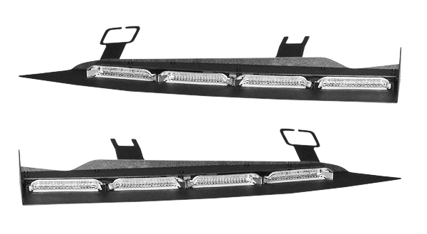 Soundoff signal nforce dual interior windshield lightbar - Federal signal interior lightbar ...
