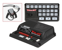 Whelen Siren Amplifier with 21 Push-Buttons and Slide Switch Controller