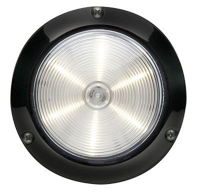 "Whelen 4"" Round Super-LED® Black Flange"