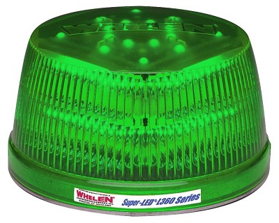 Whelen Green L31 Flat Mount Super-LED® Beacon