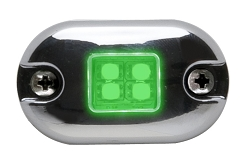 Whelen Green Marker/Clearance Light with Clear Lens