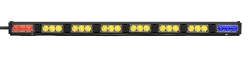 Whelen 8 Lamp TIR3 Super-LED Traffic Advisor with 2 End Flashing LEDs