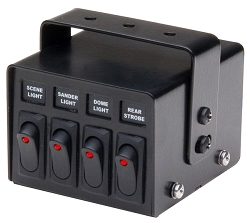 Whelen 4 Function Lighted Switch Box