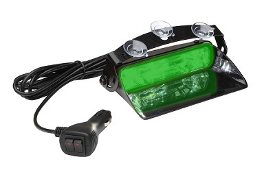 Whelen Green Avenger II SOLO Single Combination Linear/TIR Super-LED Dash Light