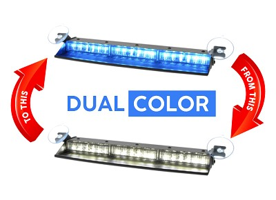 Strobes N' More Triple Threat Dual Color Dash Light